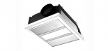 Regent swhite, 1 x 12w LED centre light, 2 x 500w infrared heat strips, 350m3/h air delivery, 40w motor, cut out size 415mm x 330mm, fascia size 440mm x 358mm, 200mm install depth
