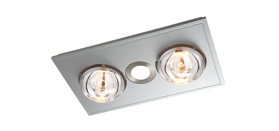 Led Bathroom Centre Light bathroom heaters | boardwalk fans & lighting