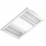 Airbus 3 in 1, white finish, 2 x 600w radiant filament heaters, 18W led light, 330m3/hr air delivery, 65w motor, cut out size 505 x 330mm, grille size 530 x 360mm