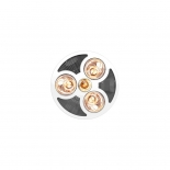 Steampro 3 in 1, white or black inserts, 3 x 275w heat lamps, 6w led light, cutout size 380mm, grille size 420mm