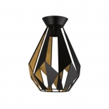 BF73, 1 x 60w B22, black with gold leaf inside, 290mm high, 205mm diameter