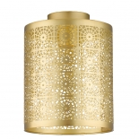 BF78, 1 x 60w B22, brushed brass metal ware, 245mm high, 190mm diameter