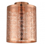 BF78, 1 x 60w B22, copper metal ware, 245mm high, 190mm diameter
