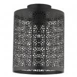 BF78, 1 x 60w B22, matt black metal ware, 245mm high, 190mm diameter