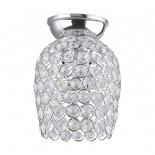 BF80, 1 x 60w B22, chrome & clear crystal, 180mm high, 130mm diameter