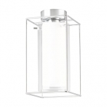 BF70, 1 x 60w B22, chrome metal ware, clear and frost glasses, 290mm high, 150mm wide