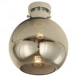 BF91, 1 x 40w B22, Chrome Metal Ware, Smoke Glass, 200mm Wide, 235mm High
