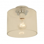 BF90, 40w B22, Chrome Metal Ware, Clear Glass, 180mm Wide, 165mm High