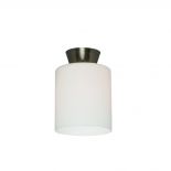 BF58, 25w B22, frosted glass with antique brass metalware, 20cm high