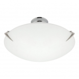 BF5, 60w B22, frosted glass with brushed chrome metal ware, 30cm diameter
