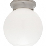 BF12, 60w B22, opal glass with brushed chrome metal ware, 170mm high, 150mm wide