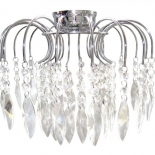 BF19, clear 60w B22, polished chrome metalware and crystal, 200mm high, 260mm wide