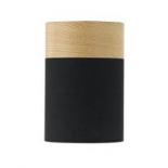 BF8, 25w B22, black and oak shade, 150mm diameter, 220mm high