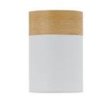 BF8, 25w B22, white and oak shade, 150mm diameter, 220mm high