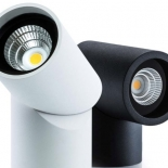 Axis , 7w 550 lumens - 3000k, 560 lumens - 4000k, available in textured white or black, 60 degree beam angle, dimmable, IP65 rated, 5 year warranty, rotating lens head, also available in 15w & 26w