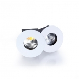Luna 10w LED pin spot, 585 lumens - 3000k, 590 lumens - 4000k, available in textured white or black, 24 degree beam angle, dimmable, 5 year warranty