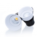 Titanium LED downlight, available in 12w 3000k 800lm, 12w 4000k 840lm, also in 15w 3000k 1000lm, 15w 4000k 1070lm, finished in uv textured white, dimmable, 7 year warranty