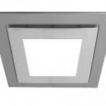 Airbus 200mm silver square fascia complete with 10w LED light, 642 lumens, 4200k, Also available to suit Airbus 200 & 250 in 14w LED light 891 lumens, 4200k