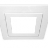 Airbus 200mm white square fascia complete with 10w LED light, 642 lumens, 4200k.  Also available to suit Airbus 200 & 250 in 14w LED light 891 lumens, 4200k