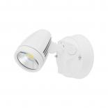 EX116, 1lt Spotlight, White cast aluminium, 15w LED, 1300 lumens, tri-colour, 3000k, 4000k, 5000k, IP54