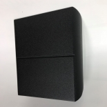 EX71, up/down design, 2 x 5w LED, 3000k, IP54, matt black, 140mm high, 130mm wide