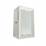 EX74, 1lt exterior, 1 x 60w E27, white, IP54 220mm high, 130mm wide