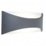 EX58, 6w LED, dark grey, 3000k, 500 lumens, 220mm wide, 90mm high, also available in 12w