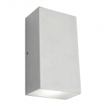 EX4, up/down square, 2 x 6w LED, 4000k, brushed chrome, IP54, 850 lumens, 160mm high, 90mm wide