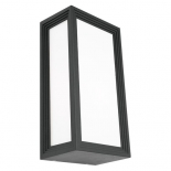 EX44, 20w E27, charcoal metal with opal acrylic, 285mm high, 150mm wide