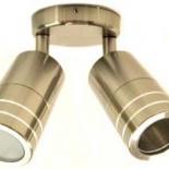 EX2, 2lt 5w adjustable GU10 led, exterior, black, titanium, and aluminium, IP65