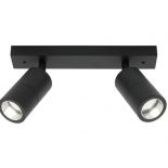 EX110, 2 x 8w GU10 led, matt black finish, IP44 rated, 360mm long, 60mm wide, 170mm projection