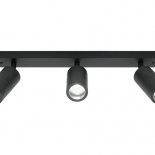 EX110, 3 x 8w GU10 led, matt black finish, IP44 rated, 560mm long, 60mm wide, 170mm projection