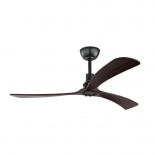 Zapallar 52 fan, black DC motor, 3 dark timber abs blades, 5 speed remote control with timer function