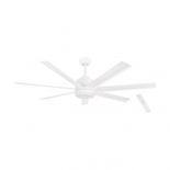 Tourbillion 60 DC fan, indoor/outdoor rated, white motor, 7 white aluminium blades, 5 speed remote control with timer function, optional 18w LED light, 1200 lumens, 4000k, also available in larger 80 inch diameter, matt black or brush nickel finish optional