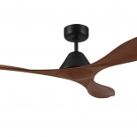 Nevis 52 DC ceiling fan, indoor/outdoor rated, black motor 3 teak  ABS blades, 5 speed remote control with timer included