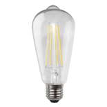 Clear Pear LED Globe, available in E27 & B22, 8w, 3000k & 4000k, dimmable