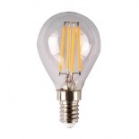 Clear Fancy Round LED, 4w, dimmable, available in E14, E27, B15, B22, 3000k & 5000k