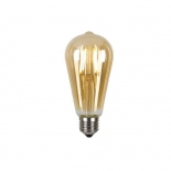 Pilot LED, 4w vintage amber, E27, 3000k 360 lumens, also available in frost 4000k 400 lumens