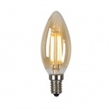Candle LED, 3w vintage amber, E14, 3000k 360 lumens, also available in frost 4000k 400 lumens