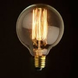 G95 vintage, 25w E27 or B22 base, dimmable, 2800k colour temperature