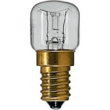 Pilot globe, 15w & 25w, e14-e27-b15 & b22 bases, also available in 300 degree rating to suit oven applications