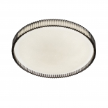 OY59, LED oyster, smoke, available in 18w, 330mm diameter, 1400 lumens, CCT, 30w , 400mm diameter, 2400 lumens CCT