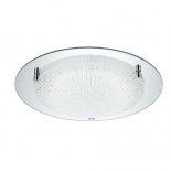 OY22, 18W LED 5000k, chrome plate, crackle glass, 400mm diameter