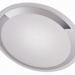 OY10, 30W LED, white acrylic with chrome dress ring,2580 lumens (5500k), 2500 lumens (3000k), 3 stage switch dimming, 400mm diameter