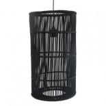 P299, 1 x 40w E27, black rattan, 31cm diameter, 55cm high