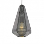 P267, 1 x 25w E27, Gunmetal laser cut metal shade, 335mm high, 200mm wide, 1500mm cable