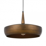 P268, 1 x 25w E27, Antique copper with copper inner, 480mm high, 300mm wide, 2000mm cable
