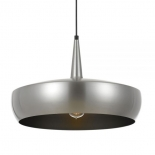 P268, 1 x 25w E27, Satin nickle with silver inner, 480mm high, 300mm wide, 2000mm cable