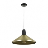 P270, 1 x 25w E27, Antique brass & black, 400mm wide, 230mm high, also available in 250mm wide