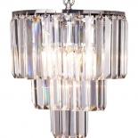 P292,  5 x 40w E14, clear crystal & chrome, 43cm high, 39cm wide, 50cm chain